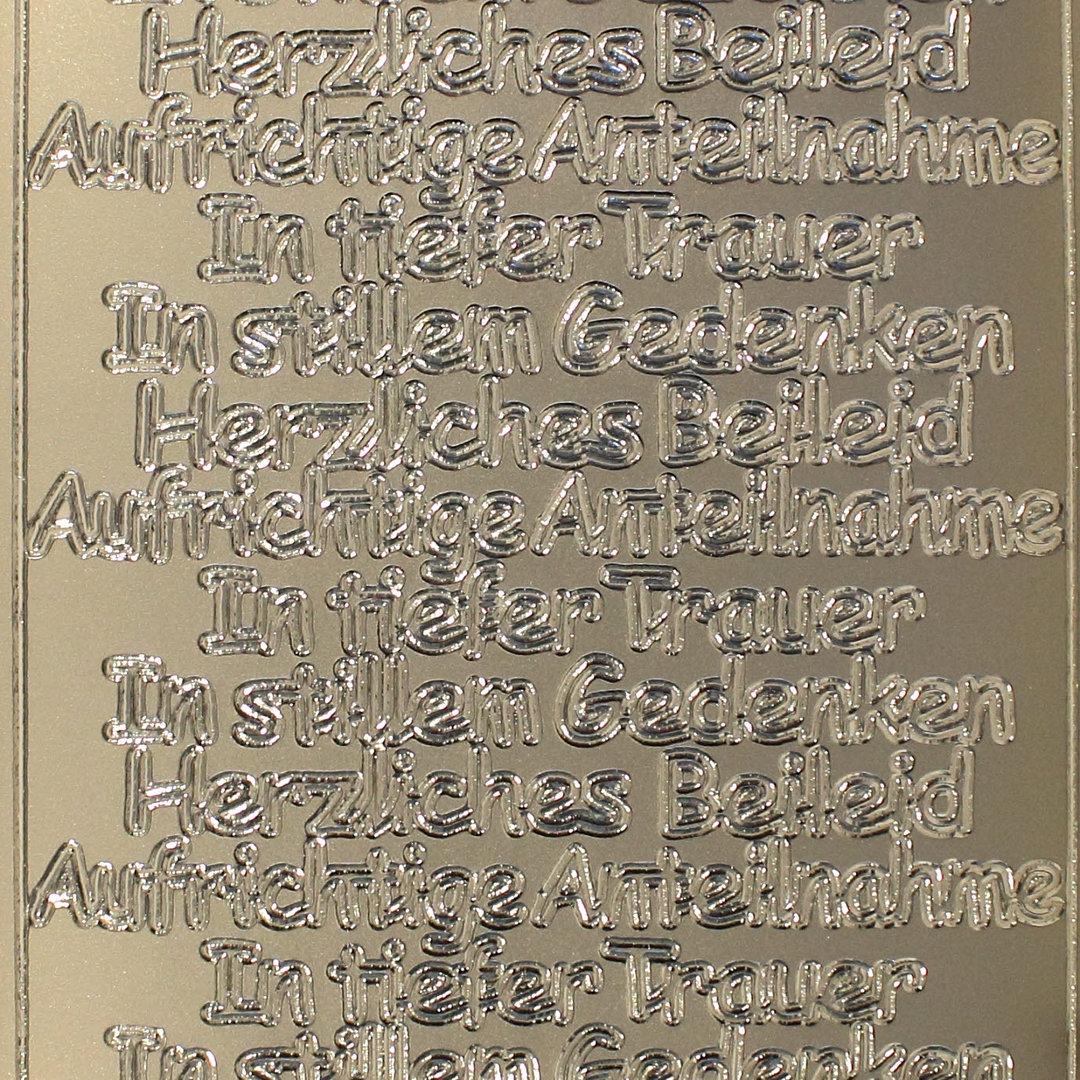 Schriftzüge Gold oder Silber Aufrichtige Anteilnahme Sticker