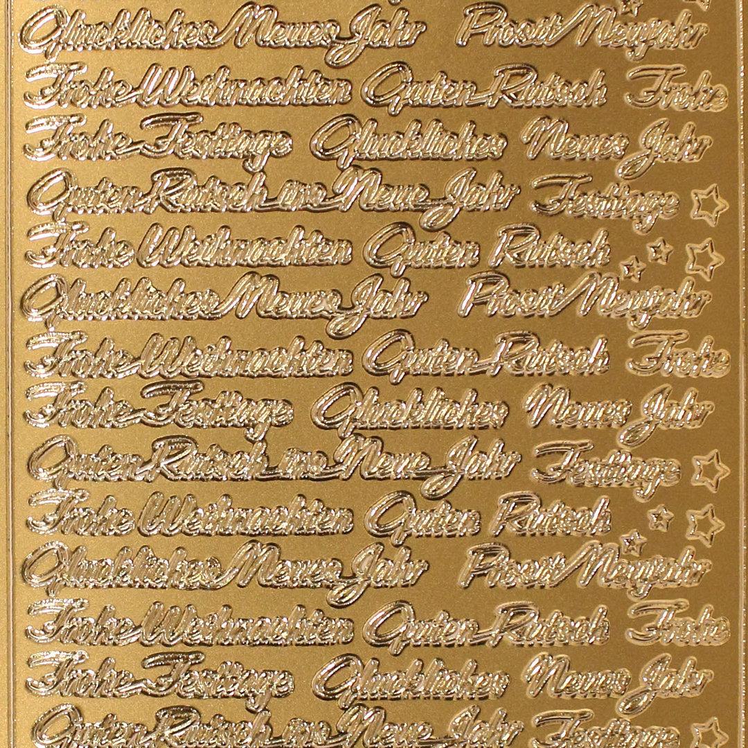Frohe Weihnachten Gold.Sticker Nr 3661 Gold Frohe Weihnachten Glückliches Neues Jahr