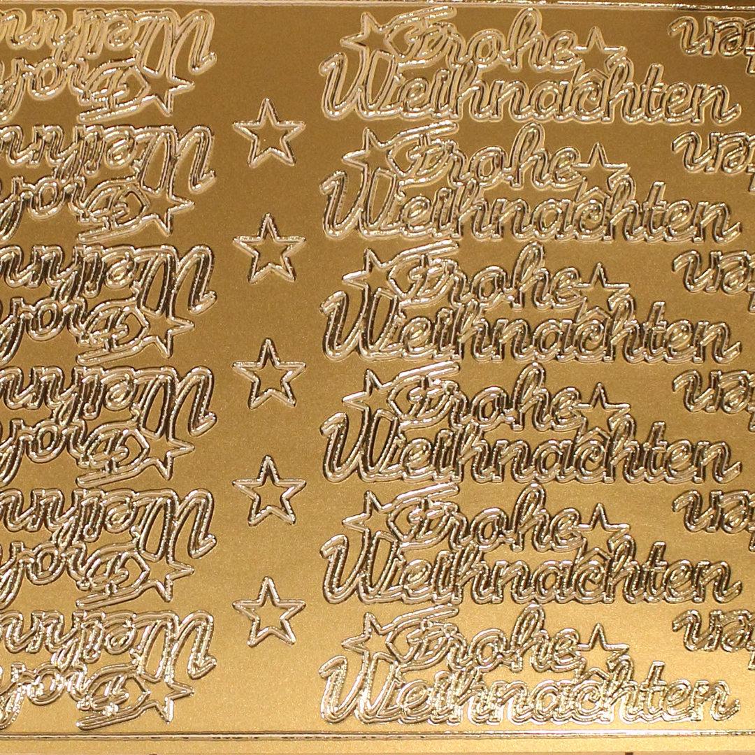 Frohe Weihnachten Gold.Sticker Nr 3607 Gold Schreibschrift Frohe Weihnachten