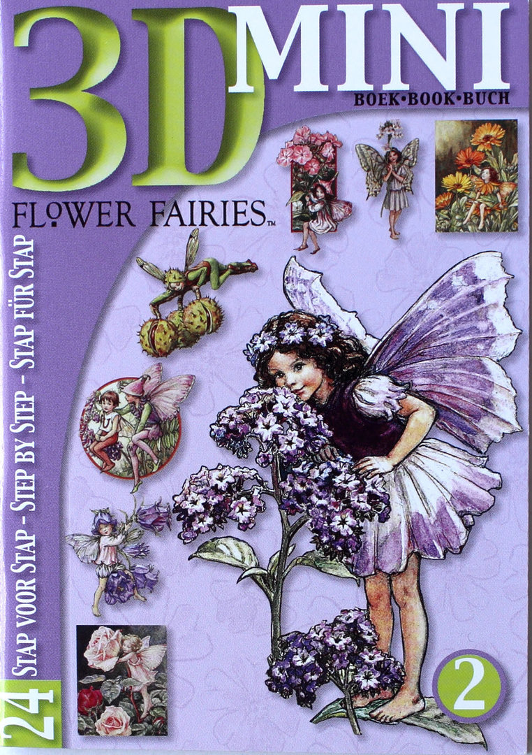 3D Mini Buch Nr.02 Flower Fairies - Elfen Motive