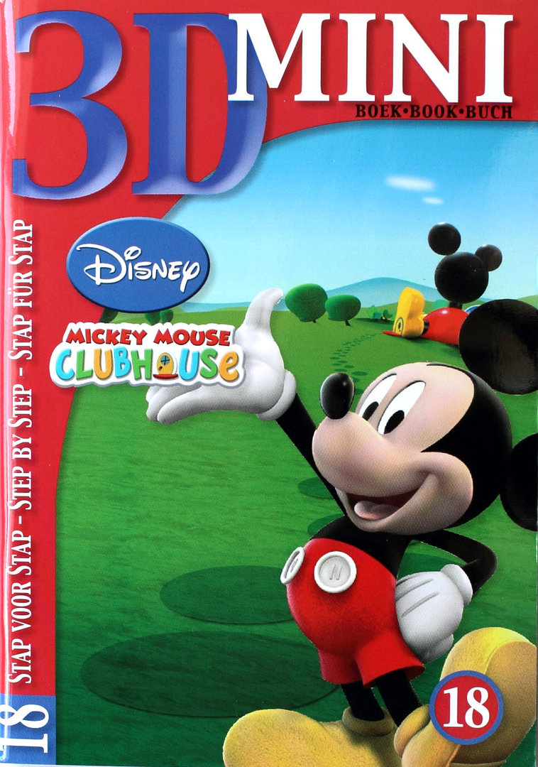 3D Mini Buch Nr.18 Mickey Maus - Disney Motive