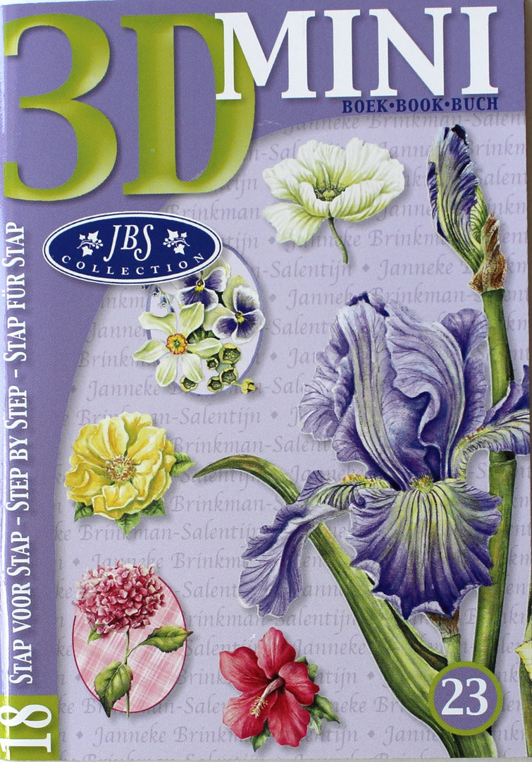 3D Mini Buch Nr.23 JBS Collection - Blumen Motive