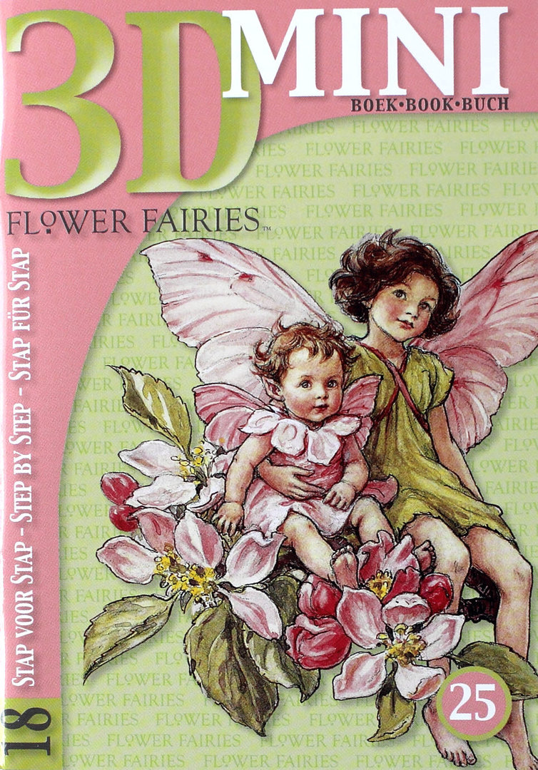 3D Mini Buch Nr.25 Flower Fairies - Elfen Motive