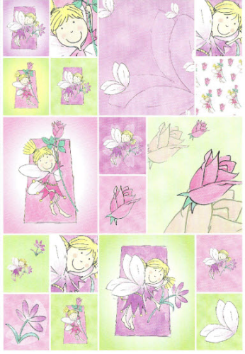 DESIGN HOUSE Sticker Nr.004 BLOOMING FAIRIES - LOLA + ROSA