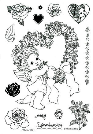 CLEAR SILIKON Morehead STEMPEL ANGEL Nr.0104
