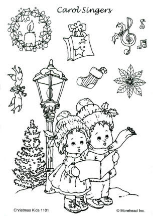 CLEAR SILIKON Morehead STEMPEL WEIHNACHTEN CHRISTMAS KIDS Nr.1101