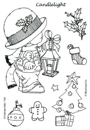 CLEAR SILIKON Morehead STEMPEL WEIHNACHTEN CHRISTMAS KIDS Nr.1102