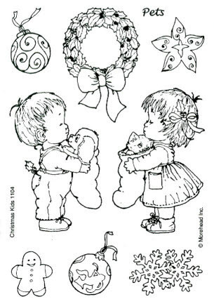 CLEAR SILIKON Morehead STEMPEL WEIHNACHTEN CHRISTMAS KIDS Nr.1104