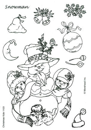 CLEAR SILIKON Morehead STEMPEL WEIHNACHTEN CHRISTMAS KIDS Nr.1103