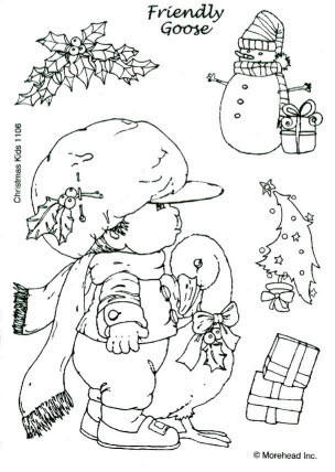CLEAR SILIKON Morehead STEMPEL WEIHNACHTEN CHRISTMAS KIDS Nr.1106