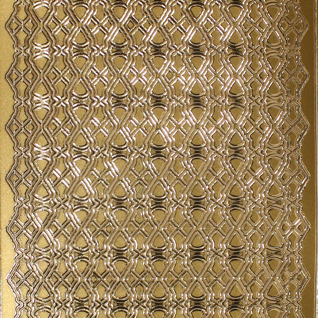 Sticker Nr.0483 Gold Fantasiebordüre