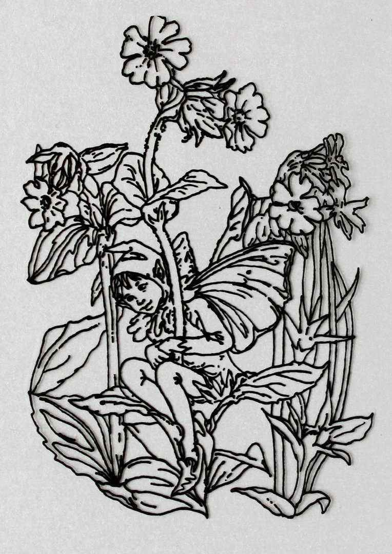 Clear Stamps Silikon Stempel - Flower Fairies Nr.05