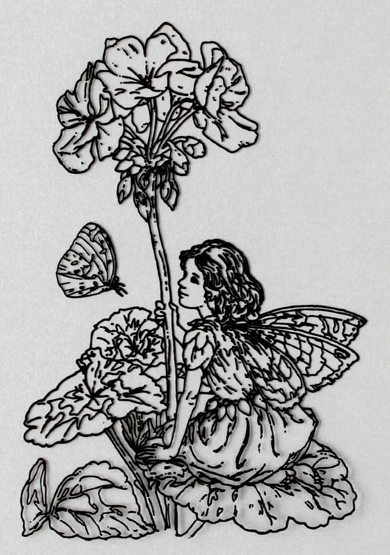 Clear Stamps Silikon Stempel - Flower Fairies Nr.08