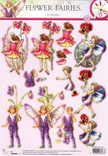 3D EASY Nr.237 Stanzbogen Flower Fairies Feen - Elfen