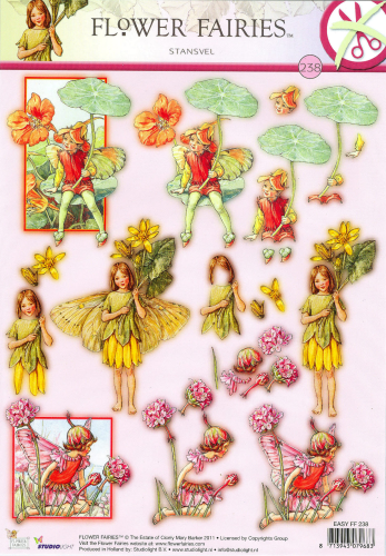 3D EASY Nr.238 Stanzbogen Flower Fairies Feen - Elfen