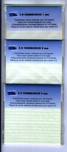 Sparpackung 3x Foampads 1,2 + 3 mm doppelseitig klebend
