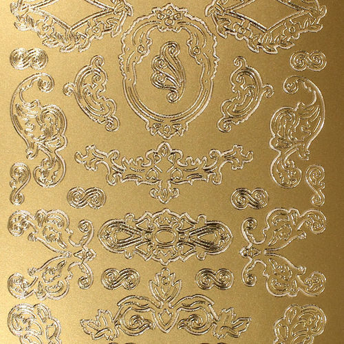 Sticker Nr.0113 Gold Filigrane Ornamente Auswahl