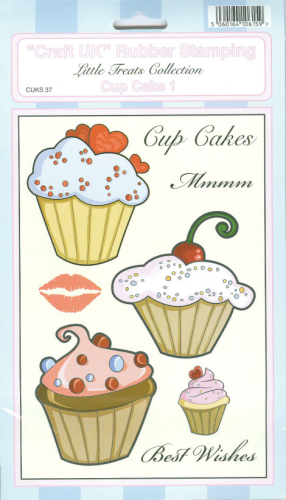 ´´Craft UK´´ Rubber Stamping Nr.037 CUP CAKE 1