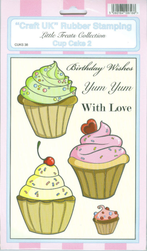 ´´Craft UK´´ Rubber Stamping Nr.038 CUP CAKE 2