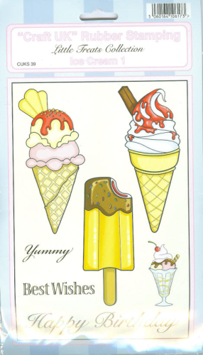 ´´Craft UK´´ Rubber Stamping Nr.039 ICE CREAM 1