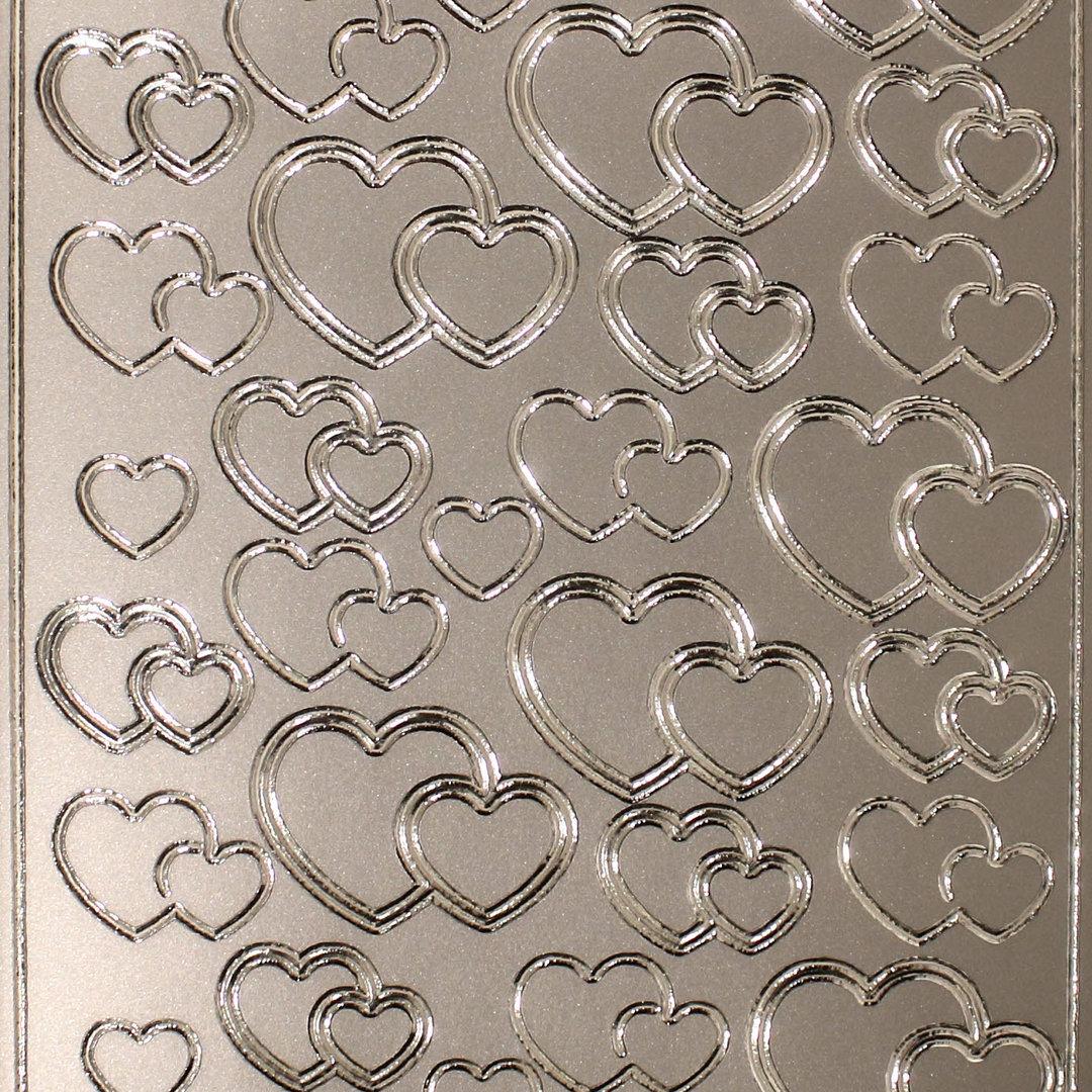 Alles Gute Stickerbogen Silber Groß 4404 Nr