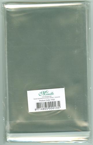 50 Klarsichthüllen Klebestreifen FORMAT C6 & B6